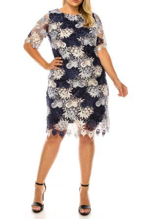 Phase Seven Short Sleeve Lace Sheath Dress